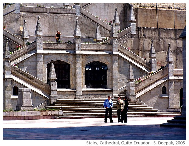 Stairs, cathedral, Quito Ecuador - S. Deepak, 2005
