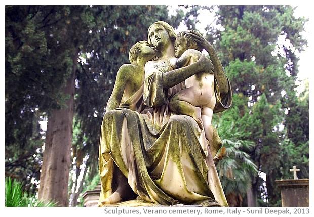 Sculptures, Verano cemetery, Rome, Italy - Sunil Deepak, 2013