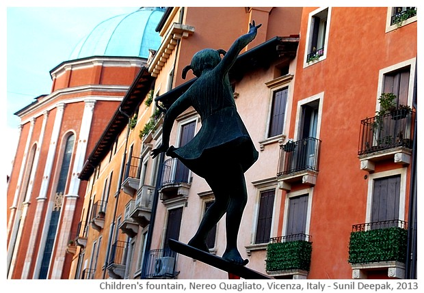 Fontana dei bimbi of Nereo Quagliato, Vicenza, Italy - images by Sunil Deepak, 2013