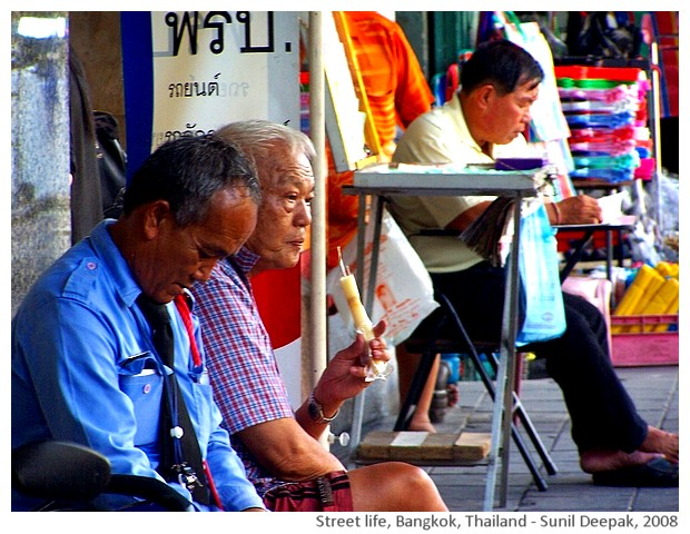 Street people, Bangkok, Thailand - images by Sunil Deepak, 2008
