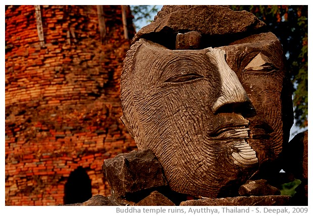 Ruins of Buddha temple, Aytthya, Thailand - images by Sunil Deepak, 2013
