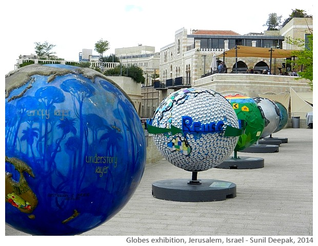 Cool globes exhibition, Jerusalem, Israel - images by Sunil Deepak, 2014