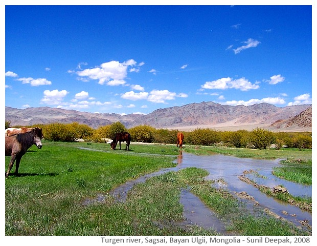Turgen river, Sagsai, Bayan Ulgii, Mongolia - images by Sunil Deepak, 2008