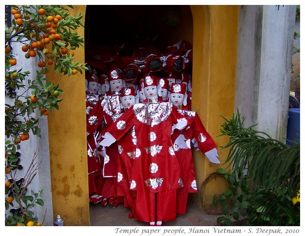 Paper people temple offering, Vietnam - S. Deepak, 2010