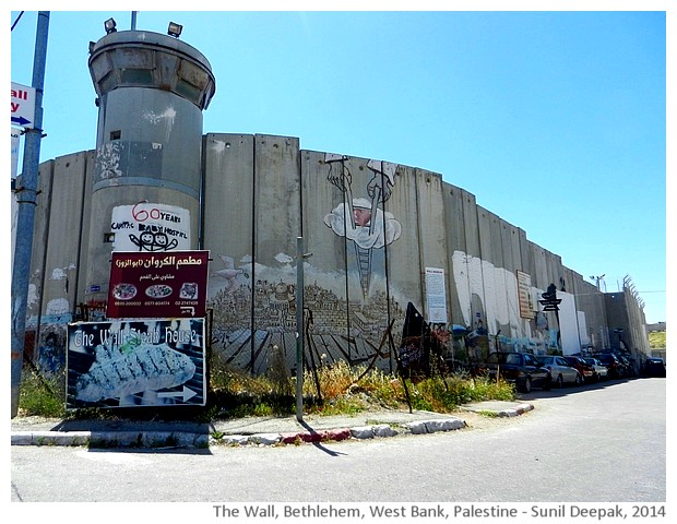 Graffiti on the Wall, Bethlehem, Palestine - images by Sunil Deepak, 2014