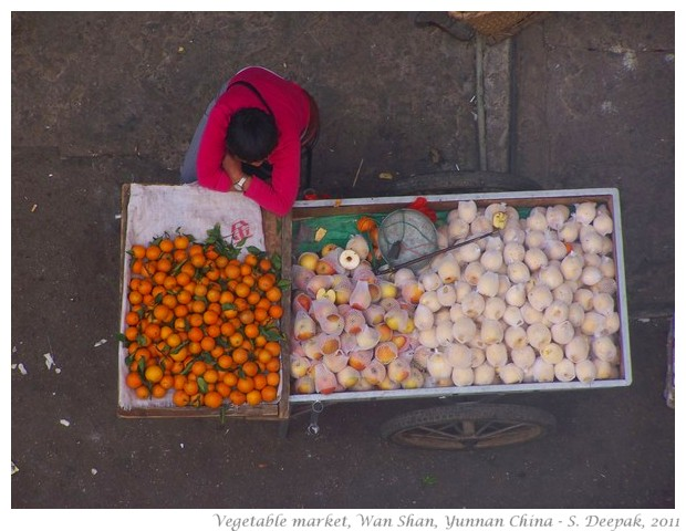 Vegetable market, Wan Shan, Yunnan, China - S. Deepak, 2010