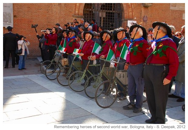 Rembering soldiers of second world war, Bologna, Italy - S. Deepak, 2012
