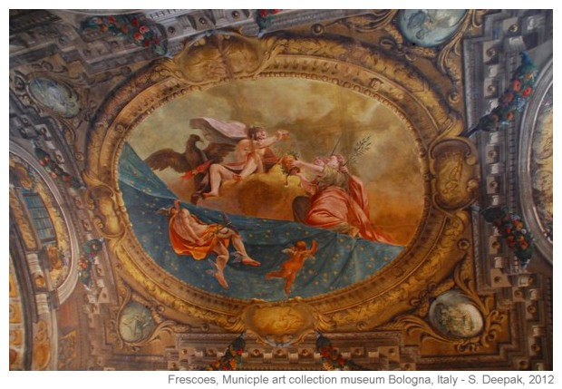 Frescoes in Municiple Museum of art, Bologna, Italy - S. Deepak, 2012