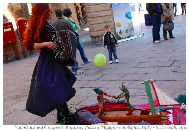 Valentina with music and puppets, Italy - S. Deepak, 2012