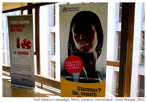 Anti-tabacco campaign, WHO, Geneva, Switzerland - images by Sunil Deepak, 2011