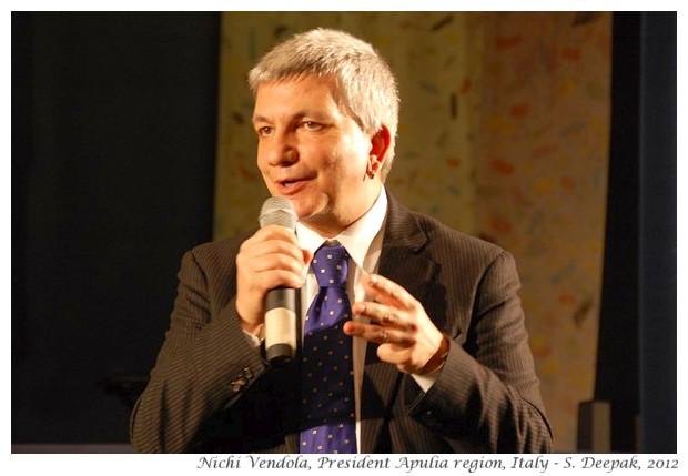 Nichi Vendola, president of Apulia region Italy