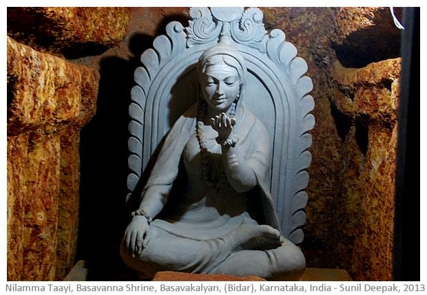 Nilamma Tayi, Basavanna shrine cave, Basavkalyan, Karnataka - images by Sunil Deepak, 2013