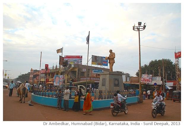 Dr Ambedkar statue, north Karnataka - images by Sunil Deepak, 2013
