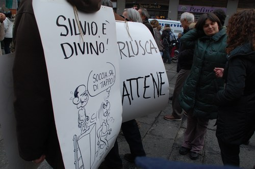 Anti-Berlusconi protests, Bologna, February 2011 - images by S. Deepak