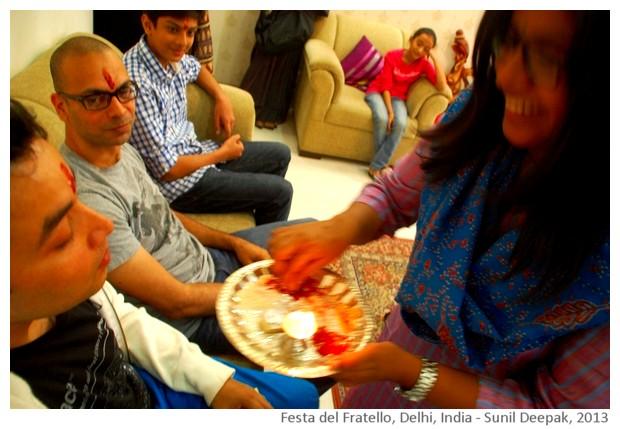 Bhaiduuj, festa del fratello, Delhi, India - immagini di Sunil Deepak, 2013