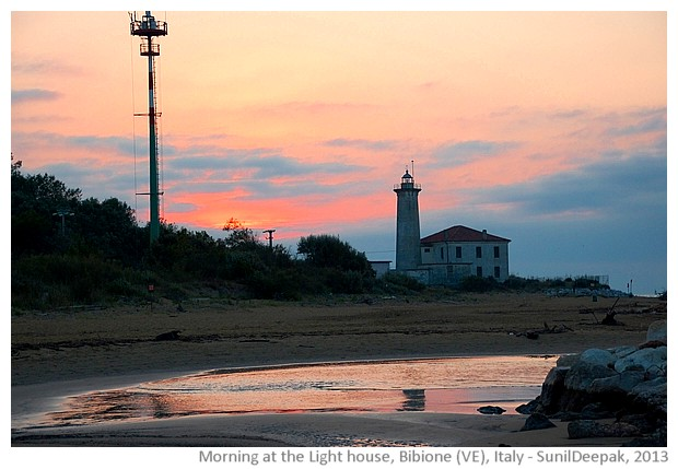 Light house, Bibione, Veneto region, Italy - images by Sunil Deepak, 2013