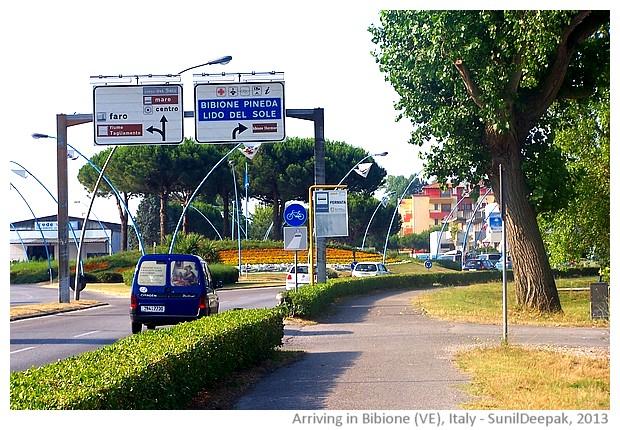 Bibione entrance, Veneto region, Italy - images by Sunil Deepak, 2013