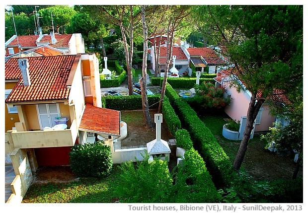 Houses, Bibione, Veneto region, Italy - images by Sunil Deepak, 2013