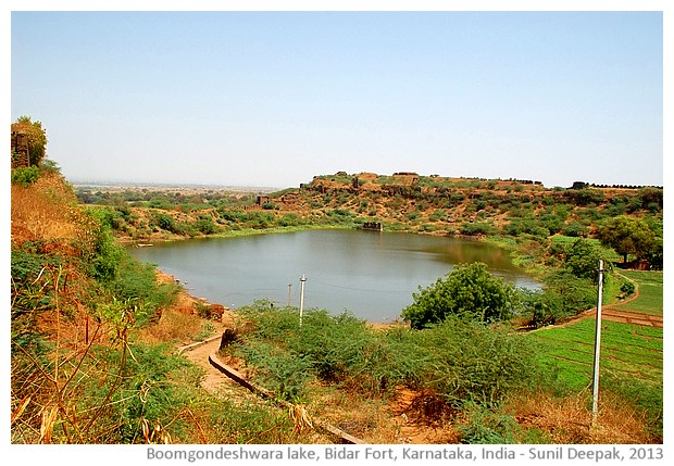 Boomgandeshwara lake, Bidar fort, Karnataka, India - images by Sunil Deepak