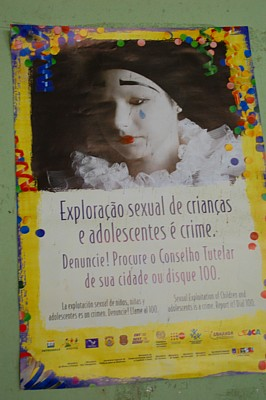 Poster on sexual exploitation of minors, Parà Brazil - Images by S. Deepak