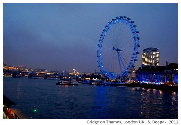 Bridge on Thames/London at night - S. Deepak, 2011