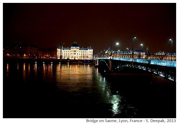 Bridge on Saone/Lyon at night - S. Deepak, 2013