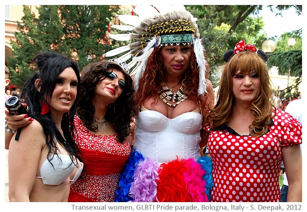A group of transexual women, GLBTI pride parade Bologna - S. Deepak, 2012
