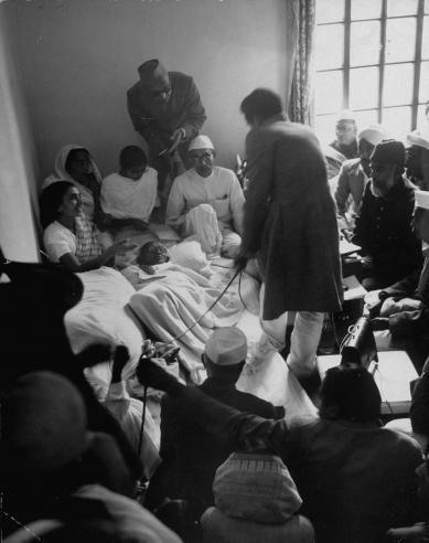Mahatma Gandhi 1948 by Margherita Burke