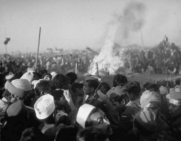 Cremation of Mahatma Gandhi, 1948 by Margherita Burke