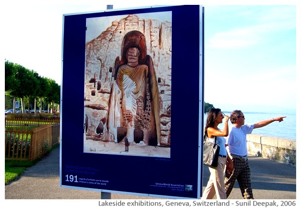 Geneva lakeside exhibitions, Switzerland - images by Sunil Deepak, 2014