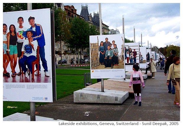 Geneva lakeside exhibitions, Switzerland - images by Sunil Deepak, 2014