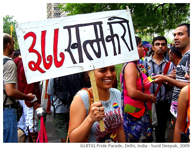 GLBTIQ pride parade, Delhi, India - images by Sunil Deepak, 2009