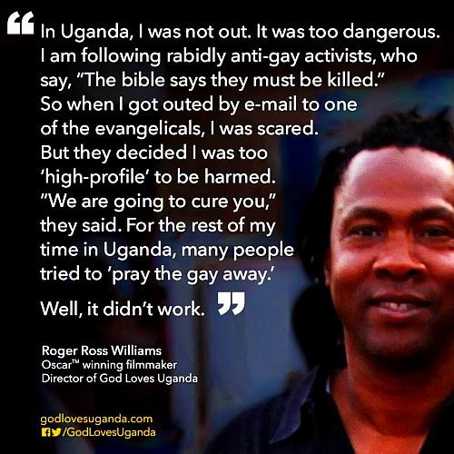 Stills from the documentary film God Loves Uganda