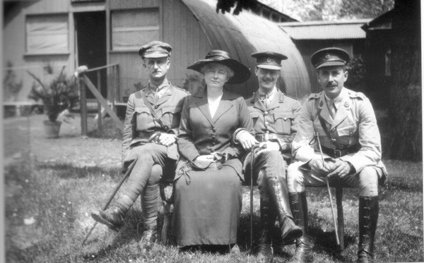 British rest camp Faenza - Ethel Graham with British officials