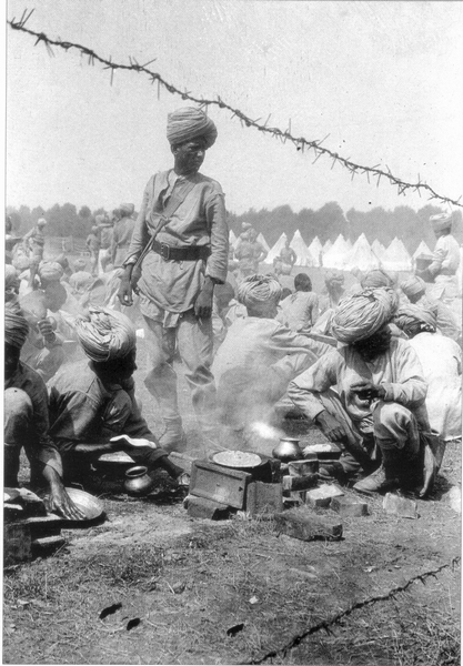 British rest camp Faenza - Indian soldiers