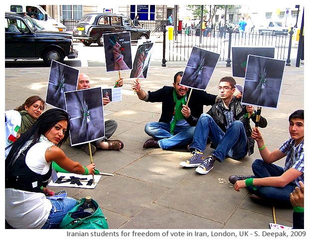 Iranian students' protest for democracy in Iran - S. Deepak, 2009