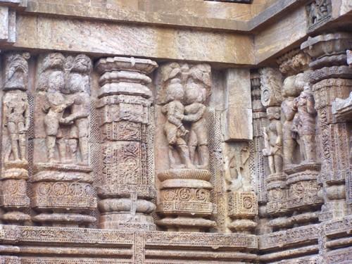 Erotic scultures, Konark, Orissa, India