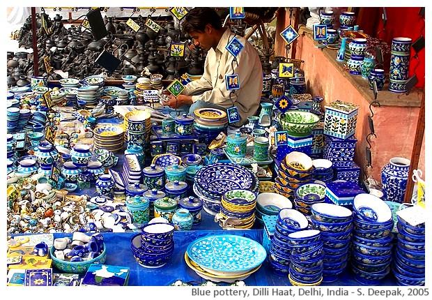 Blue pottery, Dilli haat Delhi India - S. Deepak, 2005