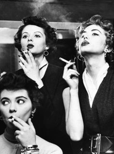 Smoking models by Peter Stackpole