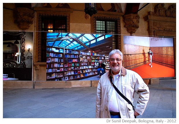 Sunil in the photography exhibition, Bologna, Italy, 2012