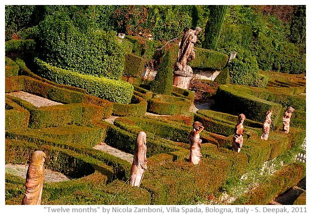 Terracotta statues of Nicola Zamboni at Vuilla Spada in Bologna, Italy - images by S. Deepak