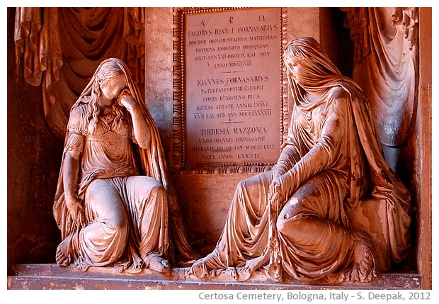 Terracotta statues Certosa cemetry in Bologna, Italy - images by S. Deepak