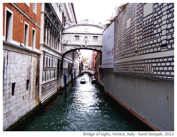 Venice walking tour, Bridge of sighs, Italy - images by Sunil Deepak