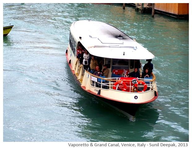 Venice walking tour, Vaporetto, Italy - images by Sunil Deepak