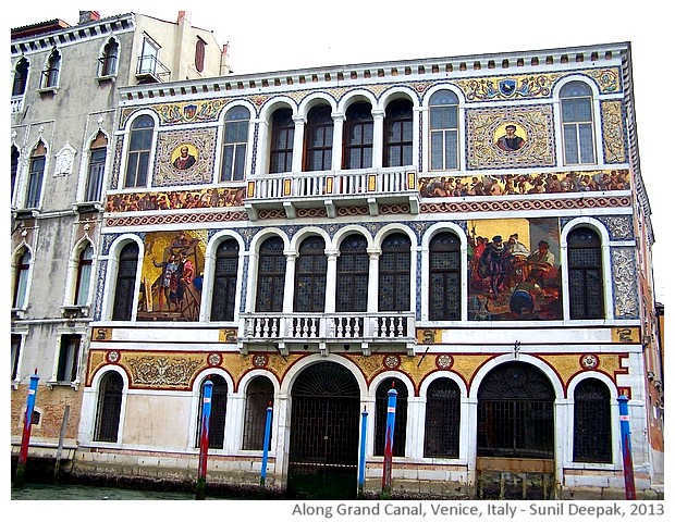 Venice walking tour, Grand canal buildings, Italy - images by Sunil Deepak