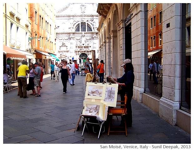 Venice walking tour, San Marco square back entrance, Italy - images by Sunil Deepak