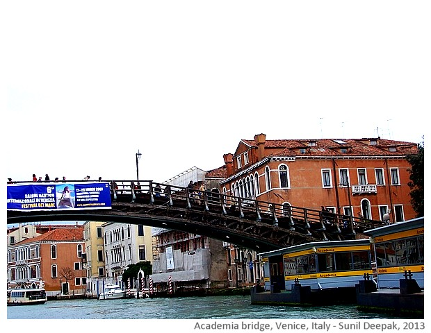 Venice walking tour, Academia bridge, Italy - images by Sunil Deepak