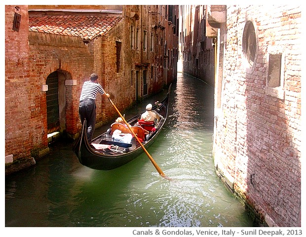 Venice walking tour, Gondolas, Italy - images by Sunil Deepak