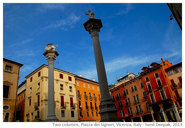 Vicenza, walking tour - images by Sunil Deepak, 2013