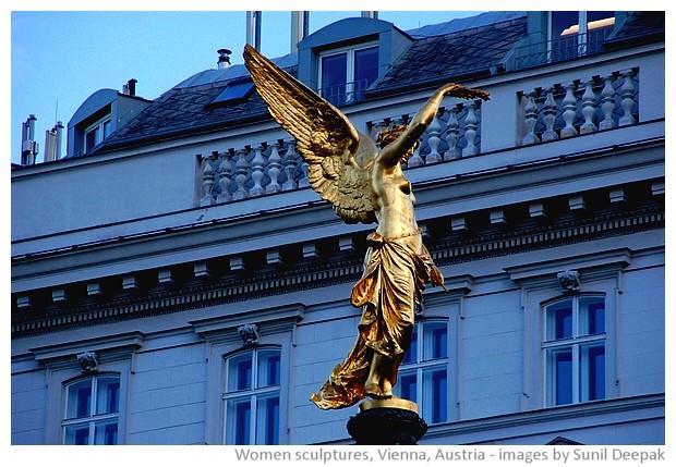 Sculptures of women, Vienna, Austria - images by Sunil Deepak, 2010-2013